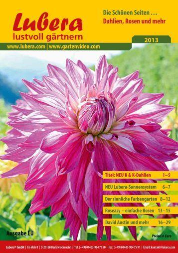 Lubera Katalog Rosen und Blütensträucher 2013