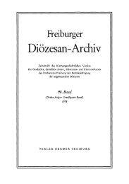 Freiburger Diözesan-Archiv ; Band 98 (1978) - FreiDok