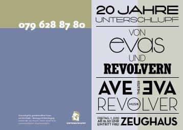 Flyer «20 Jahre Unterschlupf» (PDF) - lll Unterschlupf für ...