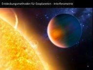Sichtbarmachung eines erdähnlichen Planeten bei einem ...