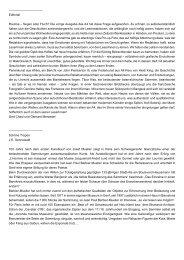 Editorial Routine – Segen oder Fluch? Die vorige ... - Haus der Völker