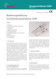 Druckaufnehmer DAIP Bedienungsanleitung ... - Gneuß