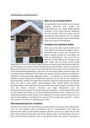 Was ist ein Insektenhotel? Insekten als nützliche Helfer ... - HOBOS