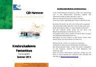 Neues Kursprogramm Sommer 2013 - CJD Hannover