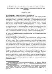 Der öffentlich-rechtliche Status für Religionsgesellschaften in ...