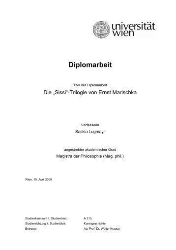 Diplomarbeit - Das Romy Schneider Archiv