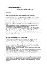 Unscharfe Variationen Ein Gerhard Richter Projekt