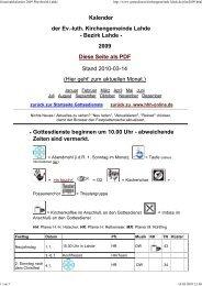2009 - Ev.-luth. Kirchengemeinde Lahde