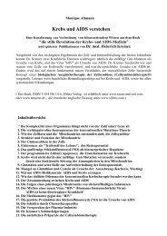 Krebs und AIDS verstehen pdf 186 k - Ummafrapp