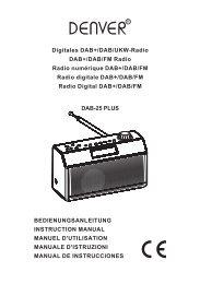 Digitales DAB+/DAB/UKW-Radio DAB+/DAB/FM Radio Radio ...