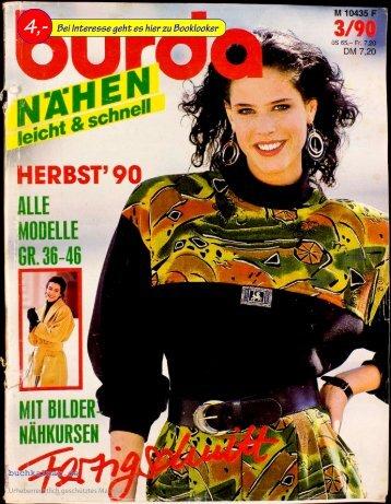 Aenne Burda Burda Nähen leicht & schnell 03.1990