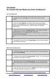 Checkliste für den Arztbesuch - Sportmedpraxis
