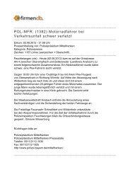 POL-MFR: (1382) Motorradfahrer bei Verkehrsunfall ... - Firmendb