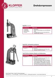Drehdornpressen - Albert Klopfer GmbH