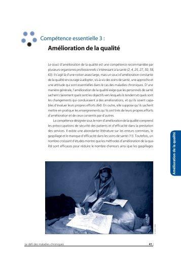 Compétence essentielle 3 : Amélioration de la qualité - libdoc.who.int