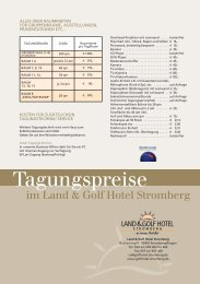 L&GHST_Tagungsp 2009_RS:Layout 1 - Land&Golf Hotel Stromberg