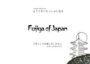 Speisekarte Restaurant Fujiya of Japan - Welcome Hotels ...
