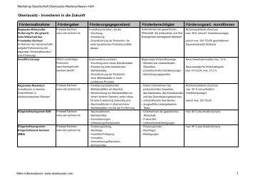 """Download PDF """"Oberlausitz - Investieren in die Zukunft ..."""