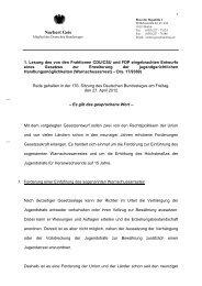 Rede zum Warnschussarrest hier herunterladen - Norbert Geis, MdB