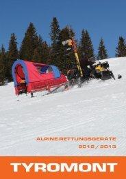 ALPINE RETTUNGSGERÄTE 2012 / 2013 - Tyromont