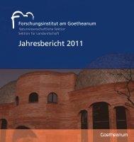 Jahresbericht 2011 des Forschungsinstituts am Goetheanum