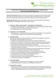 Protokoll der 2. ordentlichen Generalversammlung 28.01.2013