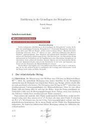 Einführung in die Grundlagen der Stringtheorie - Abenteuer ...