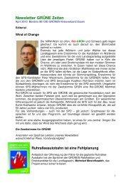 Newsletter GRÜNE Zeiten - Die Grünen Essen
