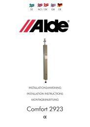 Montageanleitung - Alde International (UK)