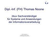 Redundanz - EDV-Sachverständigenbüro Thomas Noone