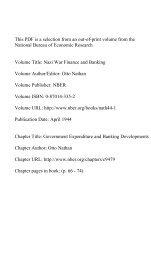 PDF (478 K) - National Bureau of Economic Research