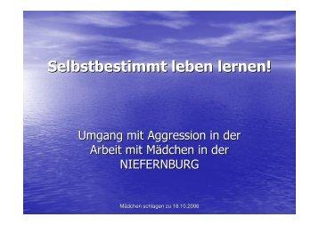 Umgang mit Aggression in der Arbeit der Niefernburg - eva