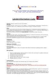 Länderinformationen als PDF - Islands and more