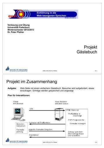 ews12-o-projekt - AG-Kastens - Universität Paderborn