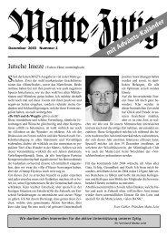 Dezember 2003 - Matte