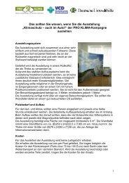 Infoblatt zur Wanderausstellung (PDF) - Pro Klima