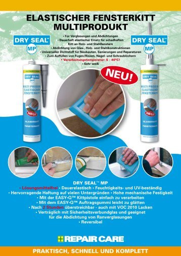 ELASTISCHER FENSTERKITT MULTIPRODUKT - Repair Care