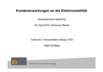 Kundenerwartungen an die Elektromobilität - Institut für ...