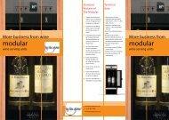 Modular – Brochure (PDF, 200 KB) - By the Glass Wine Dispenser ...