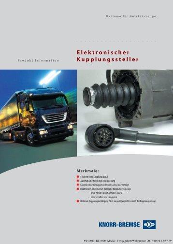 Elektronischer Kupplungssteller - Wessel Fahrzeugteile