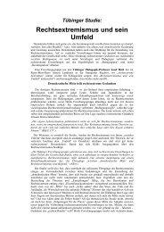 Tübinger Studie: Rechtsextremismus und sein Umfeld.rtf - Versus