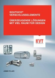 Southco® – Verschlusselemente - KVT-Fastening GmbH
