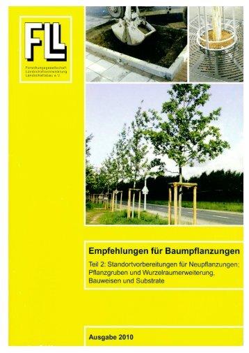 Empfehlungen fur Baumpflanzungen