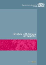 Herstellung und Entsorgung von Gipsplatten - Abfallratgeber Bayern