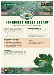 HOCHBEETE SELBST GEBAUT - Natur im Garten