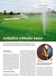 Golfplätze schlanker bauen - Stange & Jöhnk