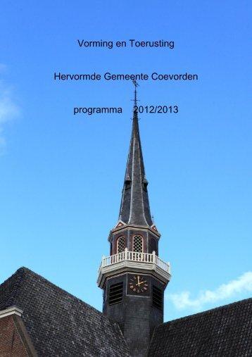 Vorming en Toerusting Hervormde Gemeente Coevorden ...