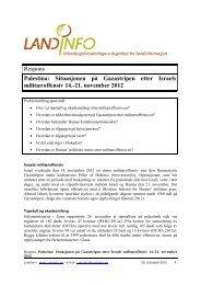 21. november 2012 - LandInfo