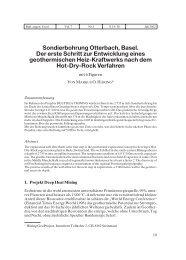 Sondierbohrung Otterbach, Basel. Der erste Schritt zur Entwicklung ...