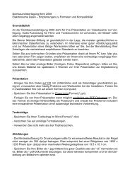 Dombaumeistertagung Bern 2008 - Berner Münster-Stiftung